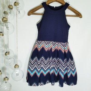 Knit Works Sleeveless Navy Blue Dress 7